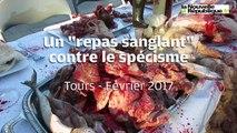 """VIDEO. Un """"repas sanglant"""" dans le centre de Tours"""