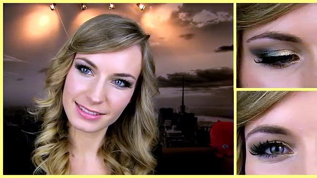 Anne V - Anne Vyalitsyna Makeup Tutorial! Gold Green Smokey Eye + Glitter. Party, Prom Makeup.
