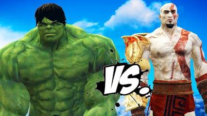 THE INCREDIBLE HULK VS KRATOS (God of War)