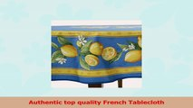 Citrons Bleu Round French Tablecloth Uncoated Cotton 71 in diameter c025082b