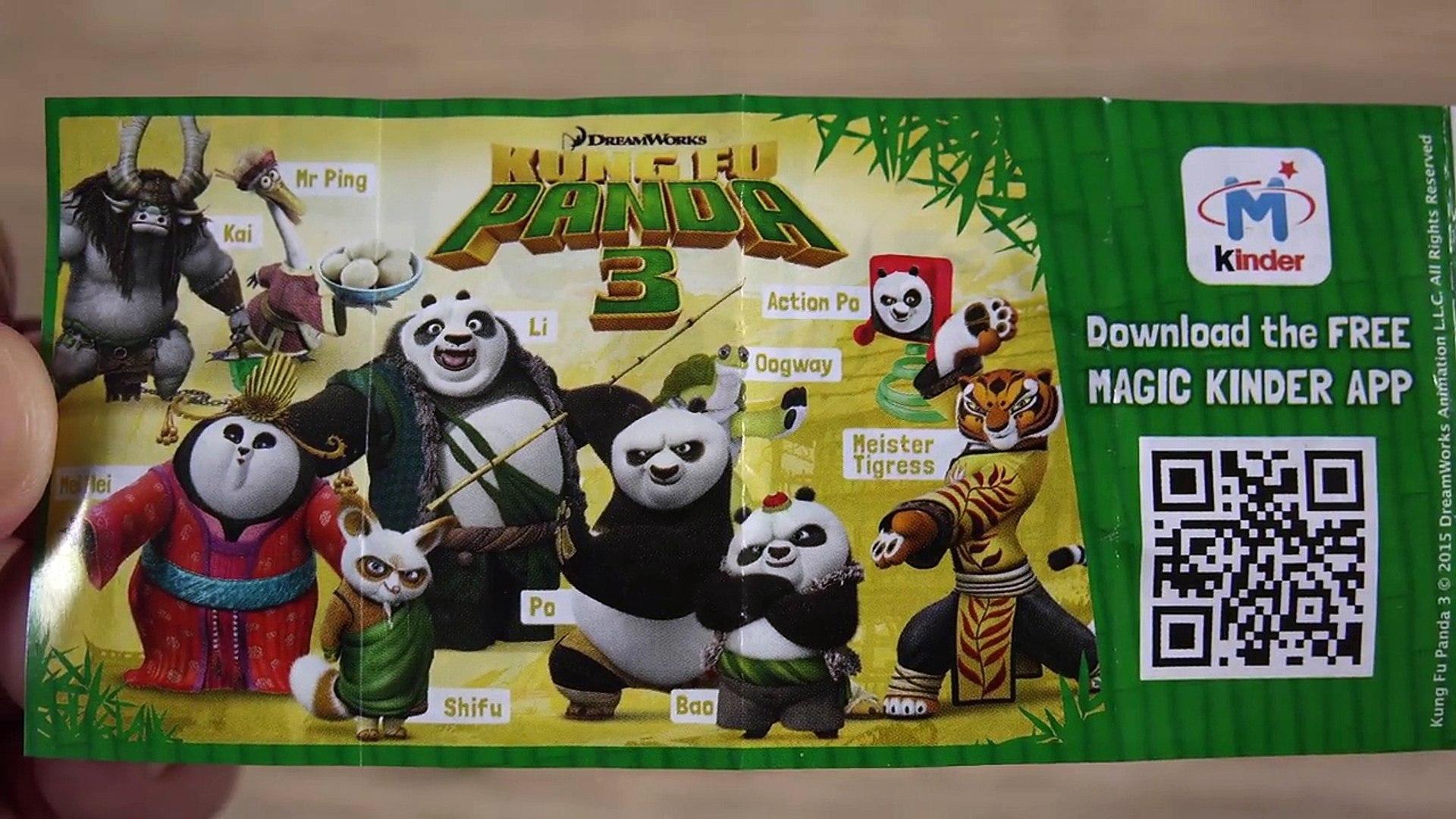 2016 Kung Fu Panda 3 Movie 24 Kinder Surprise Eggs Po Kai Mei Mei Toys Video Dailymotion