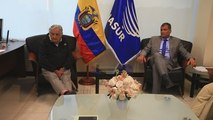 El Presidente de Ecuador se reúne con Pepe Mujica, observador electoral de Unasur