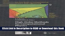 Read Book High-Order Methods for Computational Physics (Lecture Notes in Computational Science and