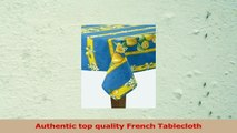 Citrons Bleu Striped Rectangular French Tablecloth Coated Cotton 61 x 79 46 people d23766d0