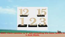 Lings moment Wooden Table Numbers with THICK STURDY VINTAGE Holder Base for Wedding Party 5911dd2f