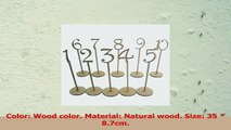 OUNONA Wooden Table Numbers with Holder Base for Wedding or Home Decoration 1 to 20 Pack 8d742fb2