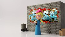 Elsa & Spiderman Crybaby Bubble Gum Gumball Machine   Play Doh Frozen Animation Stop Motion