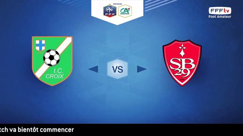 Dimanche 19/02/2017 à 14h45 - FIC Croix - Stade Brestois 29 - Coupe Gambardella Crédit Agricole - 16èmes de finale