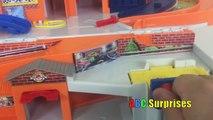 Hot Wheels Criss Cross Crash Track Motorized Disney Cars Toys for Kids FOUR High Speed Cra