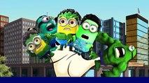 Minions Hulk Cartoons Finger Family Rhymes | Hulk Finger Family Children Nursery