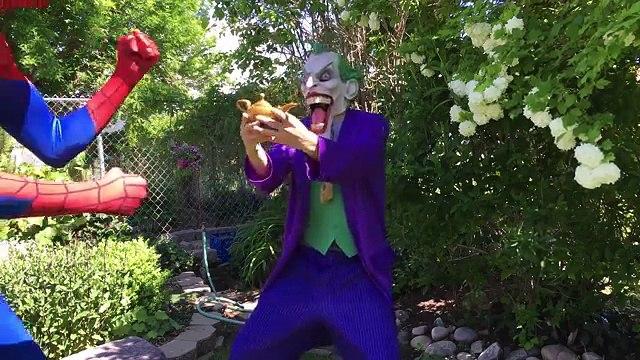Spiderman Loses His Costume Frozen Elsa Ice Cream Fun Superhero Movie In Real Life In 4K