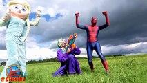 Bath Time! Frozen Elsa Bathtime Elsa Dating w/ Spiderman Superhero Stop Motion Videos Pran