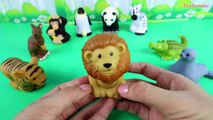 [Playdol2017] LEARN ZOO ANIMALS with 9 Fisher-Price Little People Animals - Lion Panda Mon