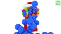 Gumball Machine 3D | Fun and Creative Animation | Learn Colors | Toddler learning video