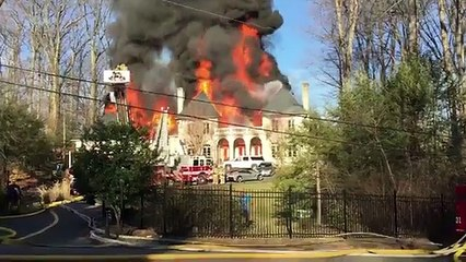 Massive home fire burns down $2.7m Virginia mansion