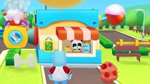 Baby Panda Ice Cream Bar Factory - Making Ice Cream with Baby Panda - Babybus Game for Kid