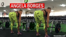 ANGELA BORGES | BRAZILIAN FITNESS | TRAINING SQUATS GLUTES | THESARADAS.COM