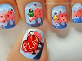 Angry Birds - Valentines Day !! Nails for Valentines Day Nail Art Valentines Day nail designs Valentines Day Nails