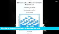 PDF [DOWNLOAD] Structural and Evolutionary Genomics: Natural Selection and Genome Evolution (New