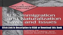 Best PDF U.S. Immigration and Naturalization Laws and Issues: A Documentary History (Primary
