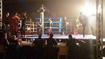 Achille Robinet (Esobama Orgeval) vs Quentin Leclerc (Muay Thai Vendinois) combat en 63 kgs