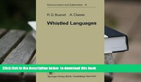 PDF [DOWNLOAD] Whistled Languages (Communication and Cybernetics) BOOK ONLINE
