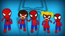 Spiderman Dedo De La Familia De Las Canciones De La Colección / Daddy Dedo De La Familia De Canciones Infantiles Canciones Para La C