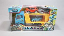 Learn Numbers Colors Toys Surprise Pororo Car Carrier Tayo the Little Bus Garage