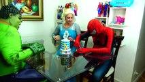 Spiderman Cooking Big Mac with Frozen Elsa & Hulk - Fun Superheroes Movie In Real Life-XYBwSaQ5