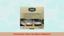 Read  Comment Faire Sa Biere Maison PDF book 0e12e5c8
