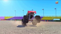 Monster Trucks   Wheels on the bus go round and round   Nursery