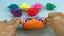 Aprender los Colores con Play Doh Rosas con Pato Peces Moldes Creativas y Divertidas para los Niños