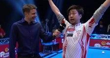 Génial : le joueur de billard japonais Naoyuki Oi répond à une interview en anglais !
