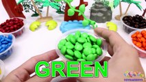 Learning Colors for Children with M&M Candy and The Good Dinosaurs-oKVo