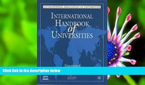 FREE [DOWNLOAD] International Handbook of Universities, 19th edition International Association of