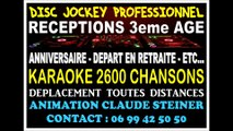DJ PARIS - DISC JOCKEY PUBLIC 3eme AGE - KARAOKE - SOIREES CLUBS 3eme AGE