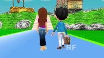 Джек и Джилл поднимаются на холм | 3D анимация английский детский стишок для детей | Детские песни