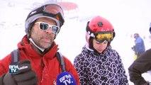"""Sensations garanties sur le """"Mur suisse"""", une des pistes de ski les plus raides du monde"""