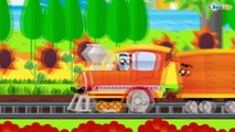 TRAINS AND CARS FOR KIDS - Adventures with the Train | Train cartoon for children in English