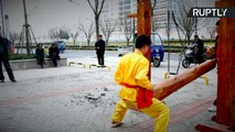 Balls of Steel! Chinese Kung Fu Master Takes Vicious Hits to Crotch Without Flinching