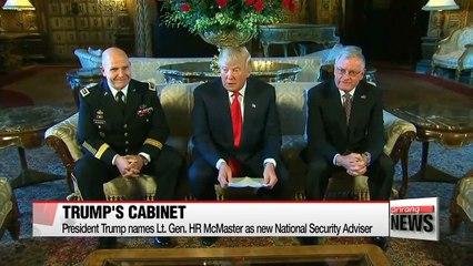 President Trump names Lt. Gen. HR McMaster as new National Security Adviser