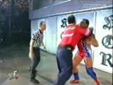 WWE (WWF King Of The Ring 2001) - Kurt Angle suplexes Shane