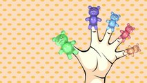 Mega Gummy bear surprise eggs shapes toys finger family nursery rhymes for kids | Colors t