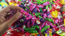 Big Bags of A lot of Candy New Surprise Eggs Learn Colors with Lollipops & Candies