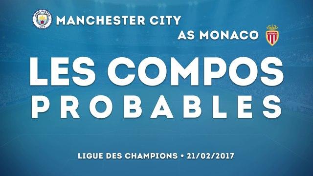 Manchester City - Monaco : les compos probables
