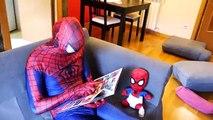 UGLY BABY vs JOKER w/ Spiderman & Frozen Elsa, Hulk, Pink Spidergirl Crying Baby Superhero