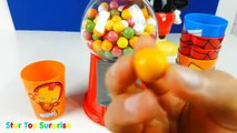 Disney Mickey Minnie Mouse Gum Ball Candy Dispensers, Learn Colors Secret Life of Pets TUY