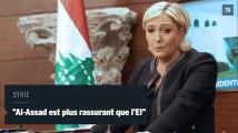 """Marine Le Pen : """"Bachar Al-Assad est plus rassurant que l'EI en Syrie"""""""