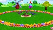 El Esqueleto De La Pesca Y De Los Dinosaurios Dedo De La Familia | Niños Canciones Infantiles | Colores De Dinosaurios Aprender