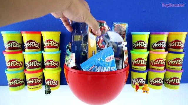 GIANT BLAZE Surprise Egg Play Doh - Nick Jr Blaze and the Monster Machines Toys Thomas Min